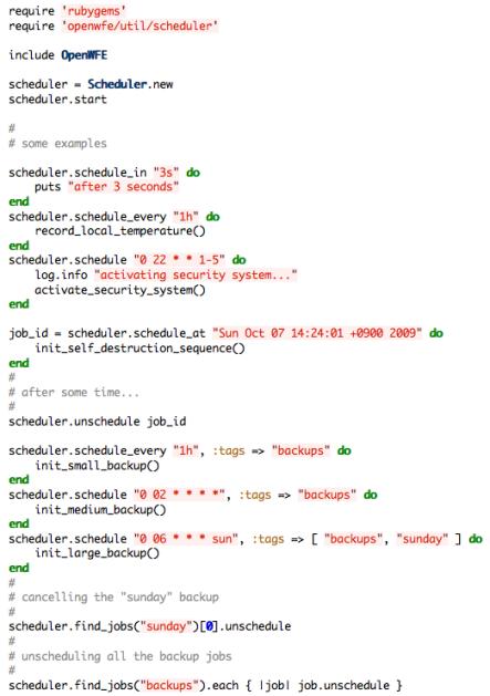 scheduler examples